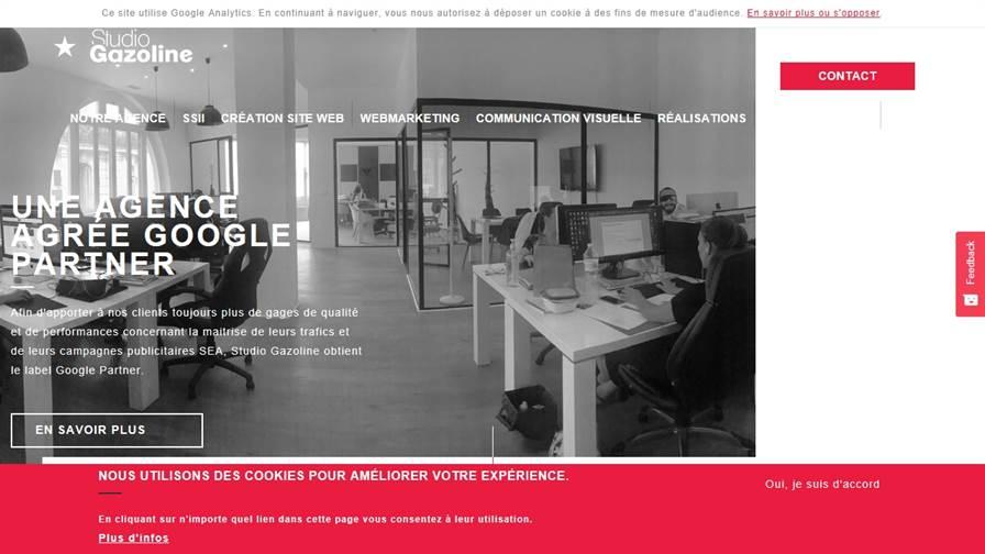 Gasoline Studio - Creation of Website Montpellier