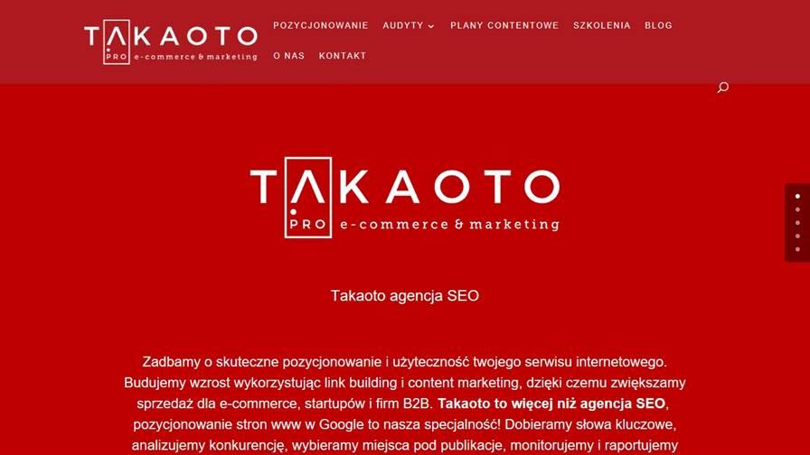 Takaoto butikowa agencja SEO