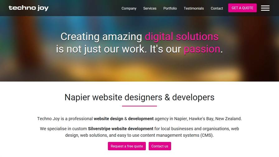 Techno Joy - Web Design & Development