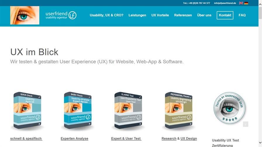 Userfriend Usability & UX Agentur Berlin userfriend.de