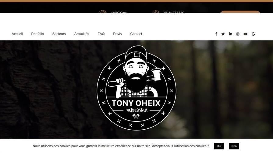 ️ Tony OHEIX : Webmaster et Webdesigner à Caen - Normandie