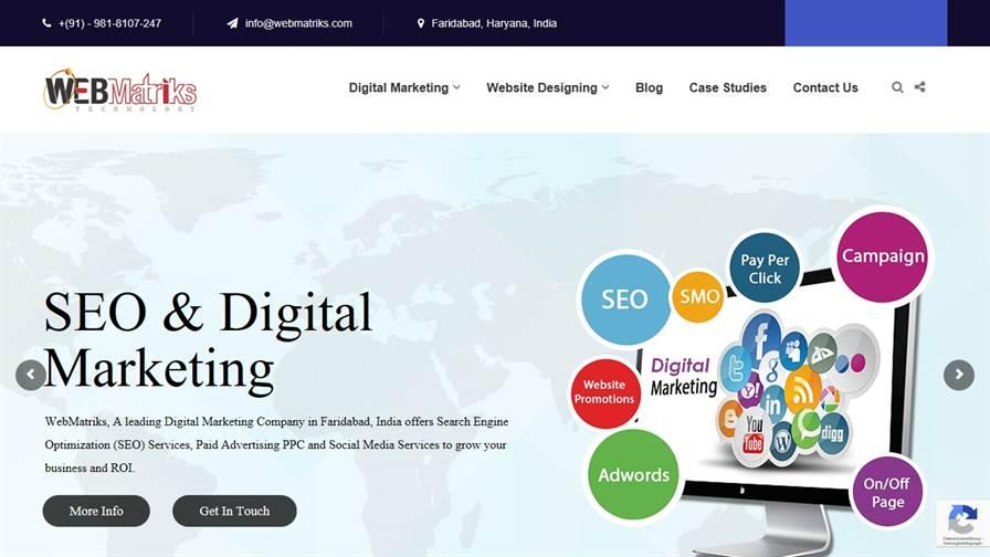 WebMatriks: SEO & Digital Marketing Company, Agency Faridabad