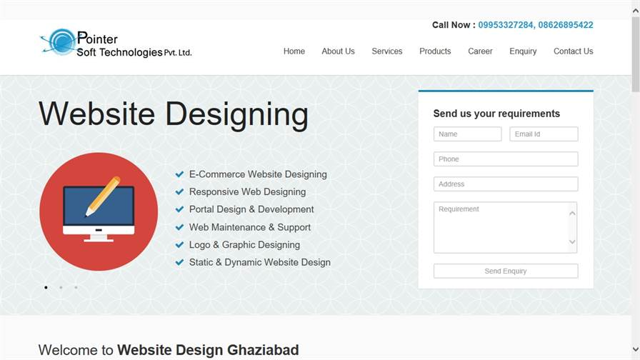 Website Design Ghaziabad Pointersoft