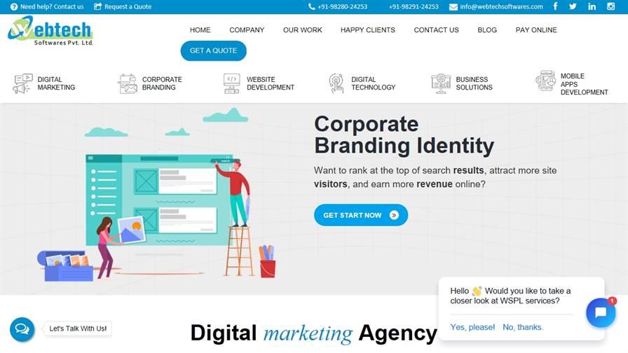 Webtech Softwares Pvt. Ltd. (Website Development   SEO/SMM/PPC   Digital Marketing   Mobile Apps)