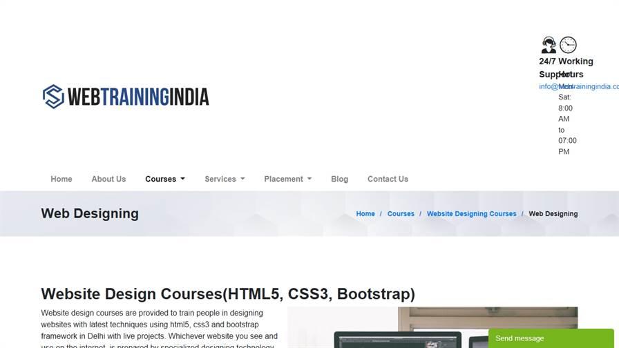 Web Designing Courses Delhi HTML5 CSS3 Bootstrap4 Training Institute UI/UX Designer Classes Delhi