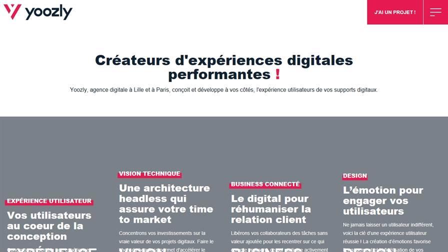Yoozly I Agence web I Agence UXUI WebDesign I Transformation digitale I Développement web